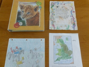 Some of our recent notebooking pages